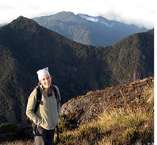 Aufrufe durint Ende der Wanderung zum Gipfel des Vulkans Baru