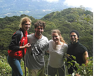 Auf dem Weg an die Spitze der höchste Punkt in Panama